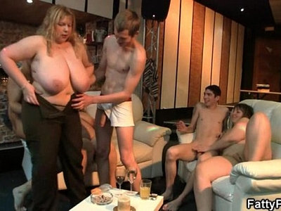 blonde   cock   fat   grandma   party