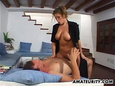 action  busty  cum on tits  girlfriend  homemade