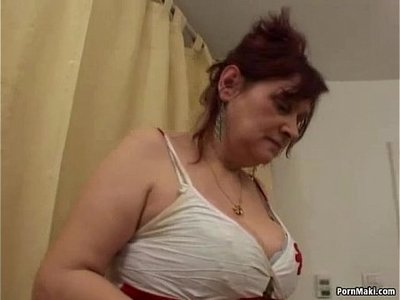 banged  busty  hairy  older woman