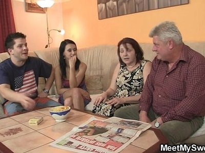 family  fuck  old and young